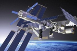 ATV Docked To the ISS, Artwork Photographic Print by David Ducros