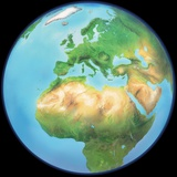 Earth Globe, Artwork Photographic Print by Gary Gastrolab