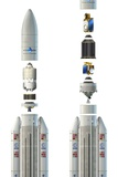 Ariane 5 Rockets, Artwork Photographic Print by David Ducros
