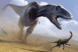 Tyrannosaurus Rex Hunting Prints by Mark Garlick