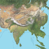 Map of Asia Photographic Print by Gary Gastrolab