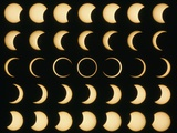 Time-lapse Image of a Solar Eclipse Premium Photographic Print by Dr. Fred Espenak