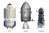 ATV, Apollo And Progress Modules Prints by David Ducros