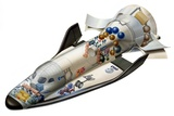 Hermes Space Shuttle, Artwork Photographic Print by David Ducros