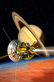 Cassini-Huygens Probe At Titan, Artwork Prints by David Ducros