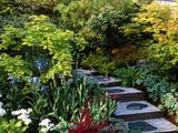Japanese Style Garden Affiche par Vaughan Fleming