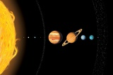 Solar System Planets, Artwork Photographic Print by Gary Gastrolab