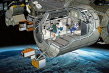 Columbus Module of the ISS, Artwork Photographic Print by David Ducros