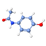Paracetamol Molecule Photographic Print by Dr. Tim Evans