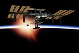 International Space Station, Artwork Photographic Print by David Ducros