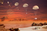 Huygens Probe Landing on Titan, Artwork Photographic Print by David Ducros