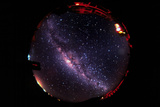 Fish-eye Lens View of the Night Sky Photo by Dr. Fred Espenak
