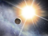 Exoplanet And Parent Star, Artwork Photographic Print by David Ducros