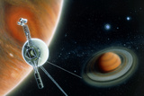 Illustration Symbolising Voyager 2's Journey Photo by Julian Baum