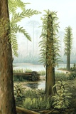 Cretaceous Tree Ferns, Artwork Photographic Print by Richard Bizley