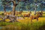 Sabre-toothed Cat Chasing Prey Photographic Print by Mauricio Anton