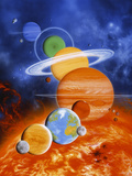 Artwork of Sun And Planets of Solar System Premium Photographic Print by Julian Baum