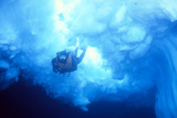 Diver Under Ice Prints by Doug Allan