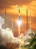 Soyuz-2 Rocket Launch, Artwork Posters by David Ducros