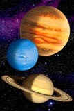 Gas Giant Planets, Artwork Photographic Print by David Ducros