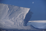 25-metre High Ice Cliffs, Antarctica Print by Doug Allan