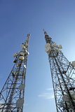 Telecommunications Masts Photographic Print by Carlos Dominguez