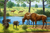Wildlife of the Pleistocene Era Prints by Mauricio Anton
