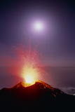 Volcano At Night Photographic Print by Dr. Juerg Alean