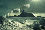 Iceberg And Icicles Photographic Print by Doug Allan