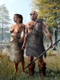 Neanderthals, Artwork Photographic Print by Jose Antonio