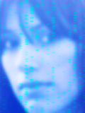 DNA Autoradiogram And Face Photographic Print by Hannah Gal