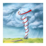 Tornado Dynamics, Artwork Photographic Print by Gary Gastrolab