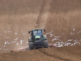 Sowing a Cereal Crop In Mid March Photographic Print by Adrian Bicker
