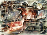Oberhausen Steelworks, Artwork Photographic Print by CCI Archives