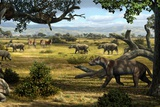 Wildlife of the Miocene Era, Artwork Photographic Print by Mauricio Anton
