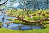 Pleistocene Animals, Artwork Photographic Print by Mauricio Anton