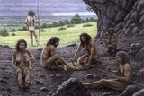 Cave Men, Atapuerca, Spain, Artwork Photographic Print by Mauricio Anton