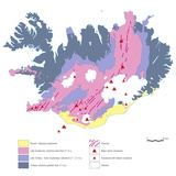 Geological Map of Iceland Photographic Print by Gary Gastrolab