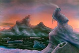 Ice Towers on Titan, Artwork Photographic Print by Richard Bizley