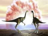 Extinction of the Dinosaurs, Artwork Photographic Print by Jose Antonio