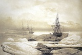 Ship Stuck In Antarctic Ice, Artwork Posters by CCI Archives