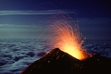 Mount Etna Volcano Erupting Photographic Print by Dr. Juerg Alean
