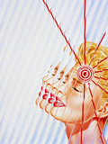 Artwork of Woman Suffering a Headache Or Migraine Posters by John Bavosi