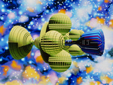 Artwork of Daedalus Starship Photographic Print by Julian Baum