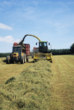 Silage Making Print by David Aubrey