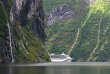 Cruise Ship In a Fjord, Norway Photographic Print by Dr. Juerg Alean