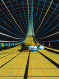 Interior of a Giant Farm Spaceship. Photographic Print by Julian Baum