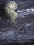Hot Air Balloon In a Storm, Artwork Prints by CCI Archives