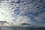 Altocumulus Cloud Cover Over Mt Erebus Volcano Photo by Doug Allan