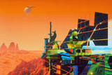 Artwork of Mars Terraforming Greenhouse Prints by Julian Baum
